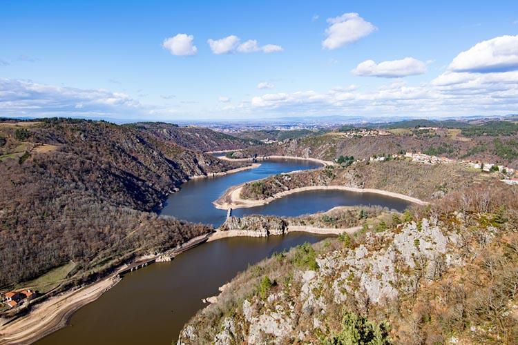 Vue des Gorges de la Loire du haut plateau de la Danse, Saint-Etienne