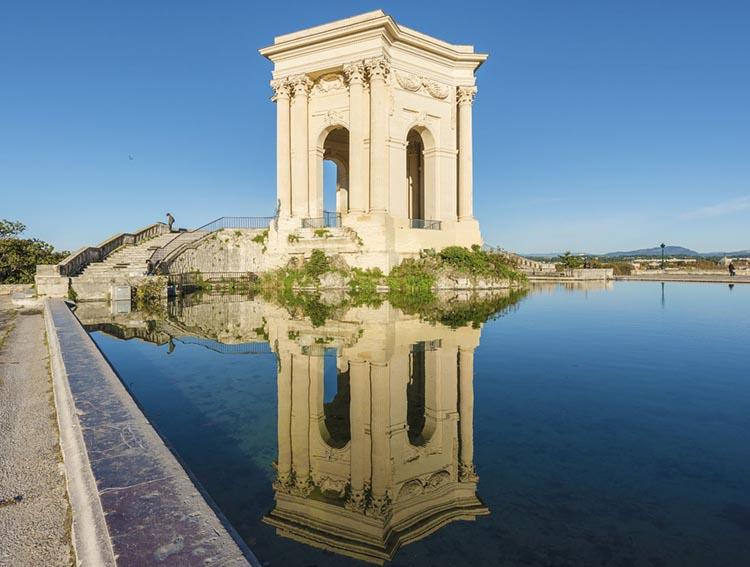 Vue sur un monument à Montpellier, Herault