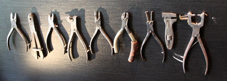 Musée de Lunettes de Morez, outils