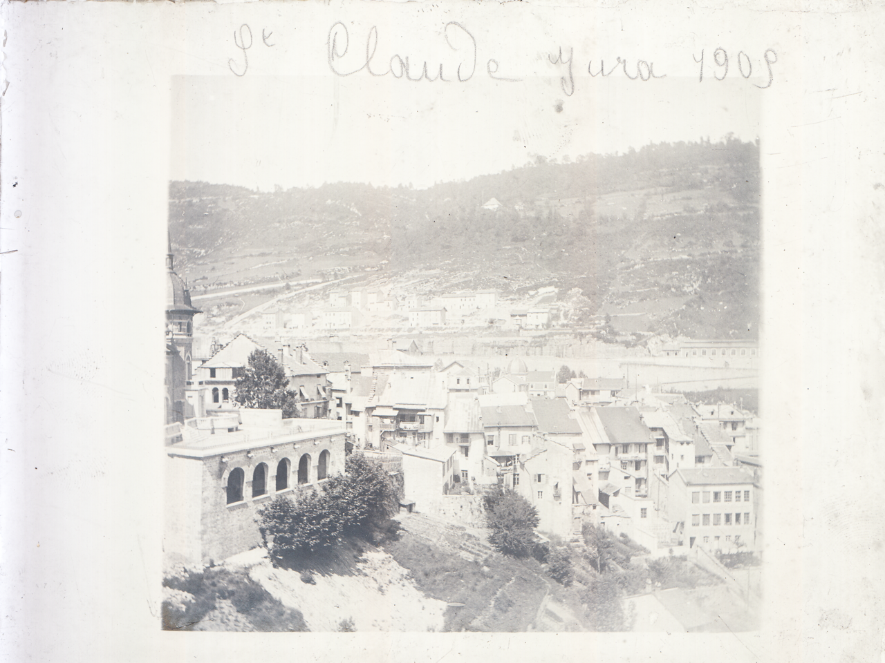 vieille photo de saint claude dans le Jura