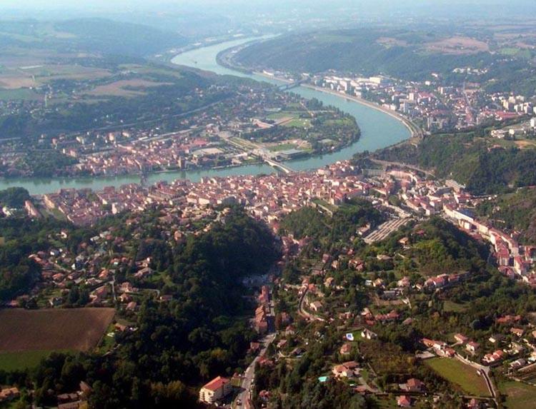 Vue en drône de Vienne