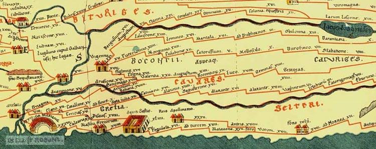 Vieille carte de Vienne la Romaine